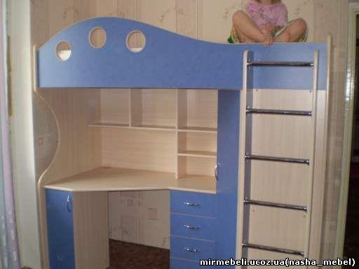 кровать-чердак детский | детей Мебель Москва к1